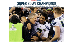 The Seattle Times homepage on Monday morning!